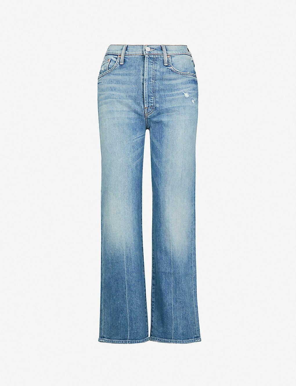 a537c9d1062b MOTHER - The Rambler cropped wide-leg high-rise jeans | Selfridges.com