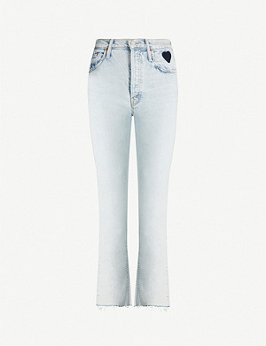 MOTHER Tomcat faded high-rise straight jeans