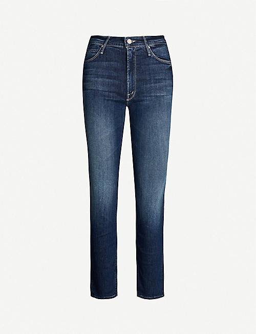 MOTHER The Dazzler tapered mid-rise jeans