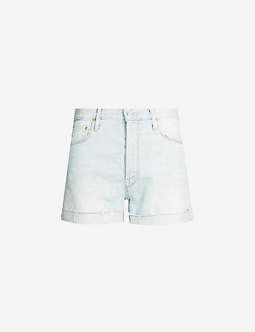 MOTHER The Proper high-rise denim shorts