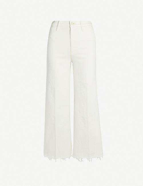 MOTHER The Swooner Roller cropped high-rise jeans