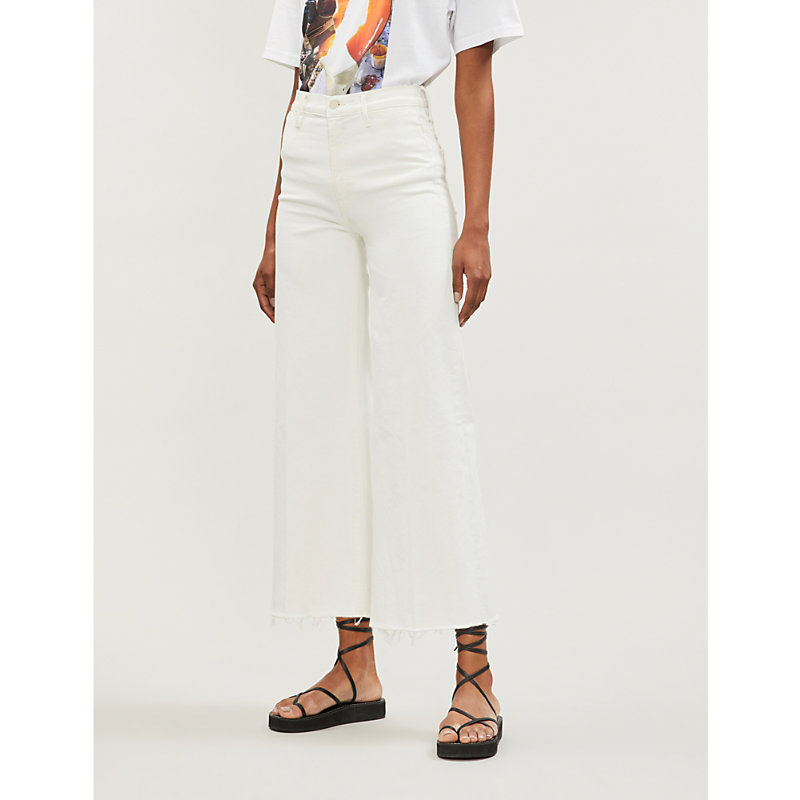 MOTHER | The Swooner Roller Cropped High-Rise Jeans | Goxip