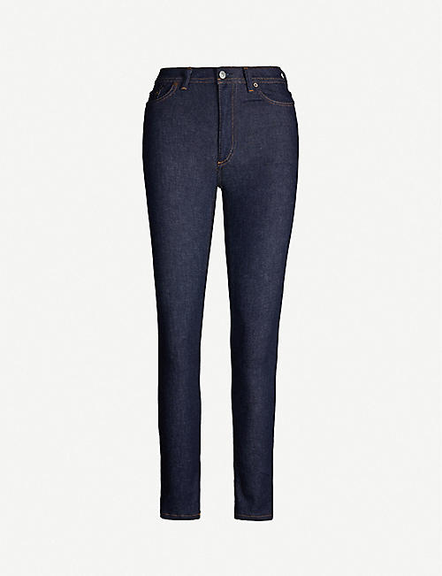 ACNE STUDIOS Blå Konst Climb tapered high-rise jeans