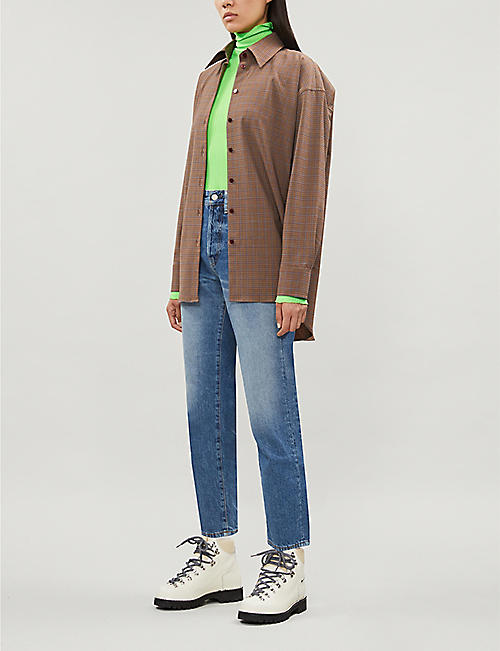 ACNE STUDIOS Faded cropped straight high-rise jeans