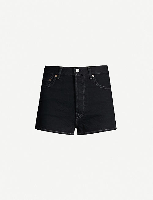 ACNE STUDIOS Magee high-rise denim shorts