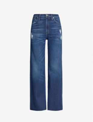 SLVRLAKE Grace ripped straight-leg high-rise jeans