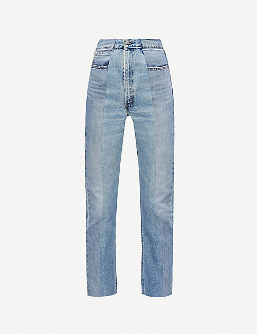 E.L.V. DENIM The Twin straight high-rise jeans