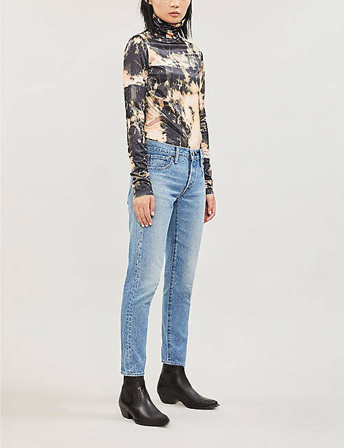 MOUSSY VINTAGE Keystone tapered high-rise jeans