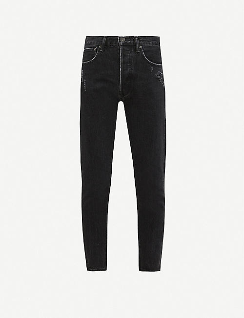 MOUSSY VINTAGE Andrews ripped tapered high-rise jeans