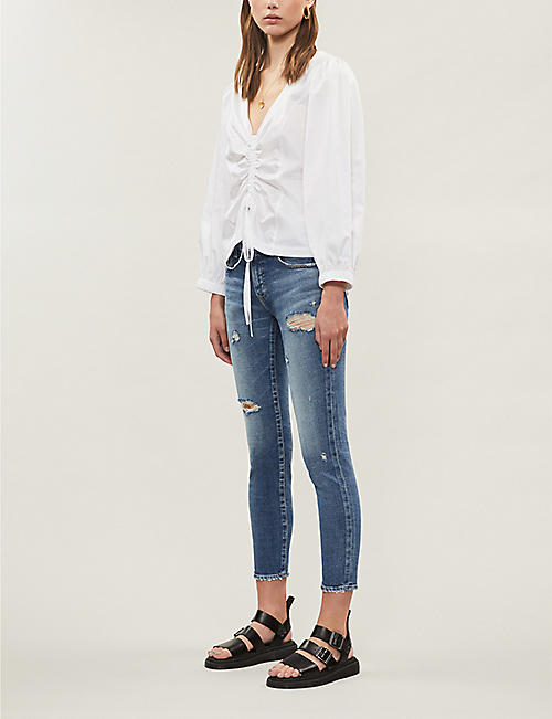 MOUSSY VINTAGE Cantil cropped skinny low-rise jeans