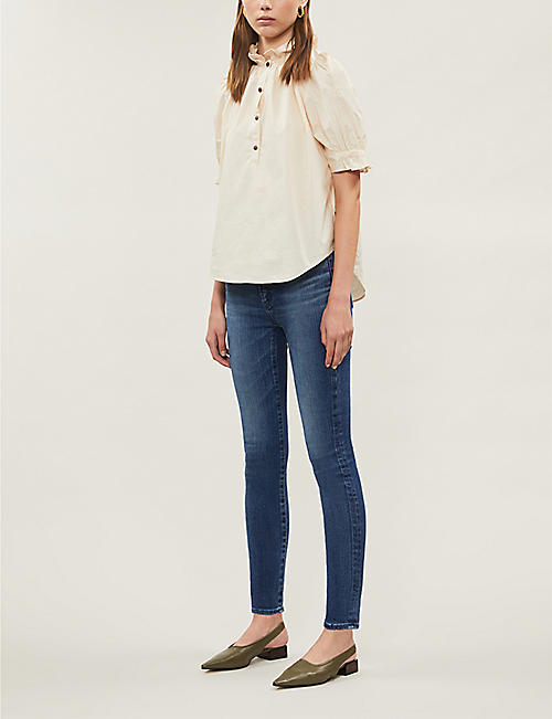 MOUSSY VINTAGE Willows Rebirth cropped skinny low-rise jeans