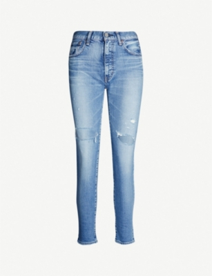 MOUSSY Cooper ripped skinny mid-rise jeans