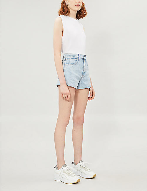 SLVRLAKE Farrah high-rise denim shorts