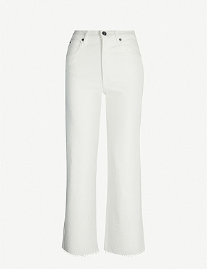 SLVRLAKE Grace cropped wide high-rise jeans