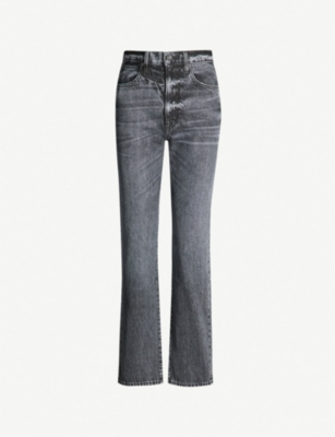 SLVRLAKE London mid-rise slim-fit straight jeans