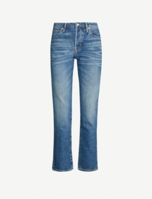 SLVRLAKE Faded low-rise straight-leg cropped jeans