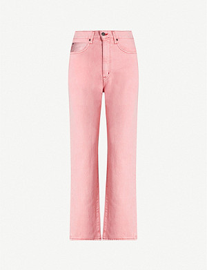 SLVRLAKE London cropped straight high-rise jeans