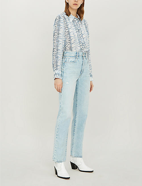 SLVRLAKE London faded high-rise straight-leg jeans