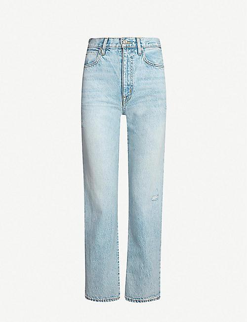 456006211a6 SLVRLAKE London faded high-rise straight-leg jeans