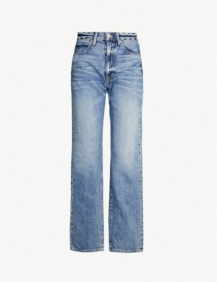 SLVRLAKE Faded high-rise straight-leg jeans