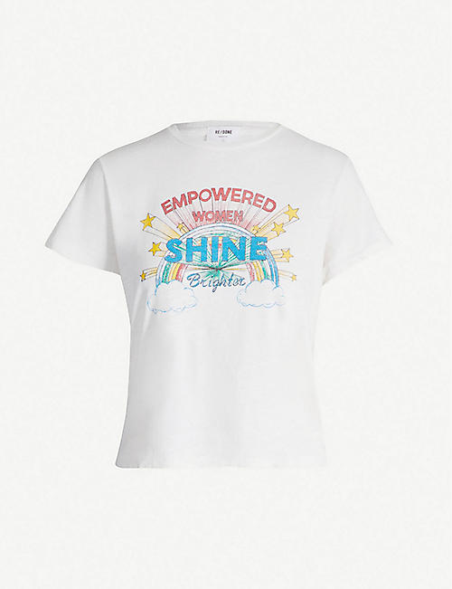 RE/DONE Shine-print cotton T-shirt