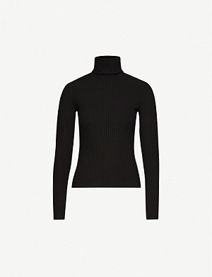 RE/DONE Ribbed stretch-jersey turtleneck jumper