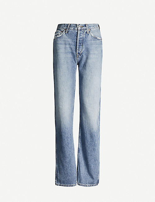 RE/DONE Ripped high-rise straight jeans