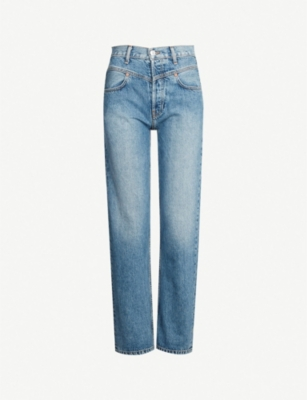 RE/DONE Double yoke slim-fit straight high-rise jeans