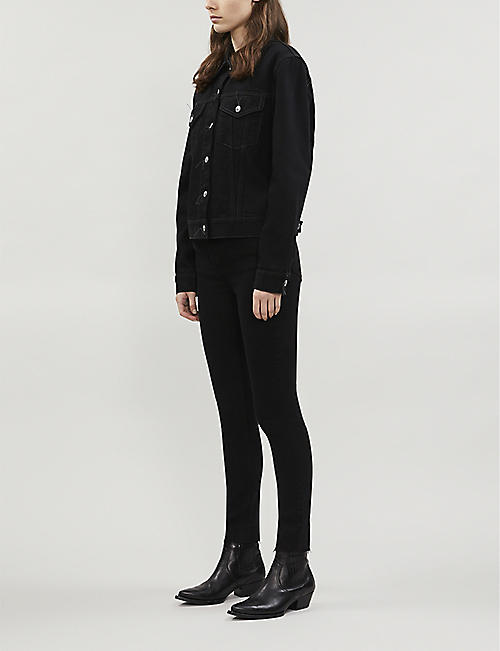 RE/DONE Straight cropped high-rise jeans