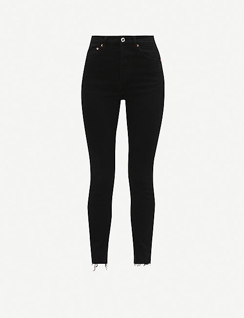 RE/DONE: Straight cropped high-rise jeans