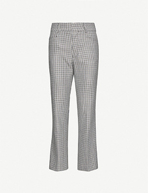 RE/DONE Checked wool-blend trousers