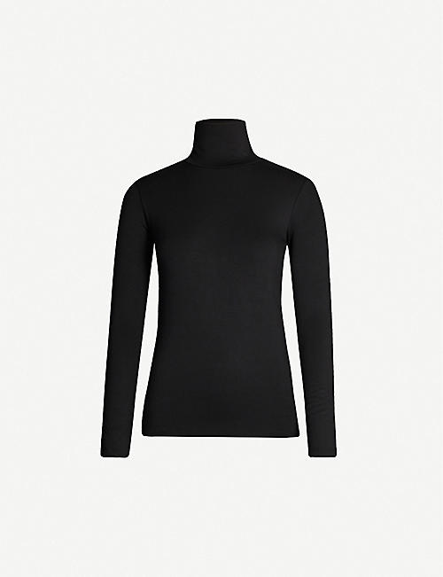 L'AGENCE Lani turtleneck stretch-jersey top