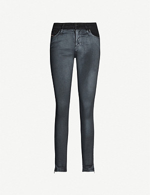 DIESEL Slandy metallic skinny high-rise jeans