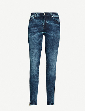 DIESEL Slandy acid-wash skinny high-rise jeans