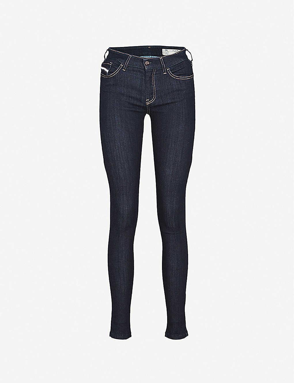 6409265c DIESEL - Slandy skinny mid-rise jeans   Selfridges.com