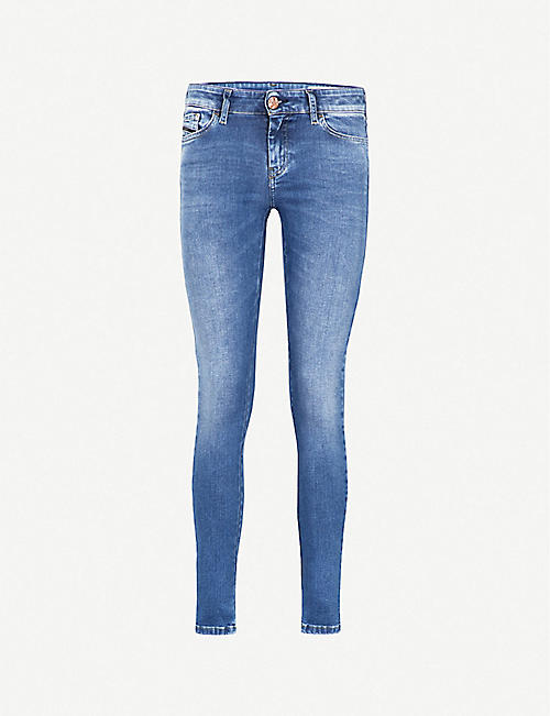 DIESEL: Slandy super-skinny high-rise jeans