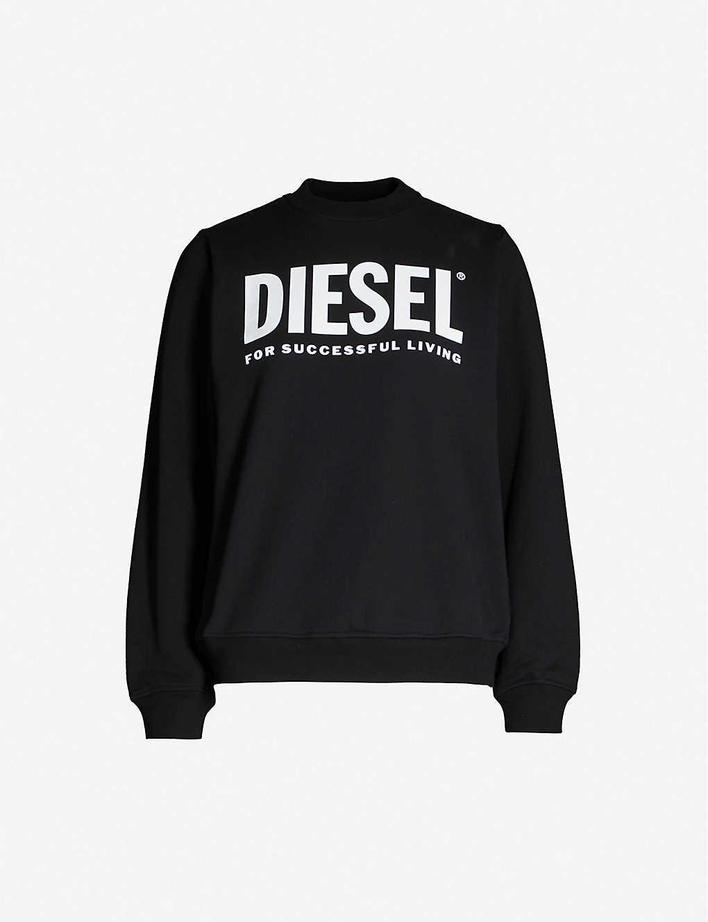 Diesel Shirts Logo-print cotton-jersey sweatshirt