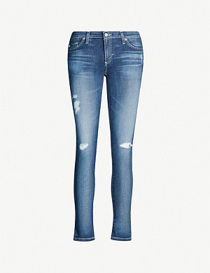 AG Skinny mid-rise cropped jeans