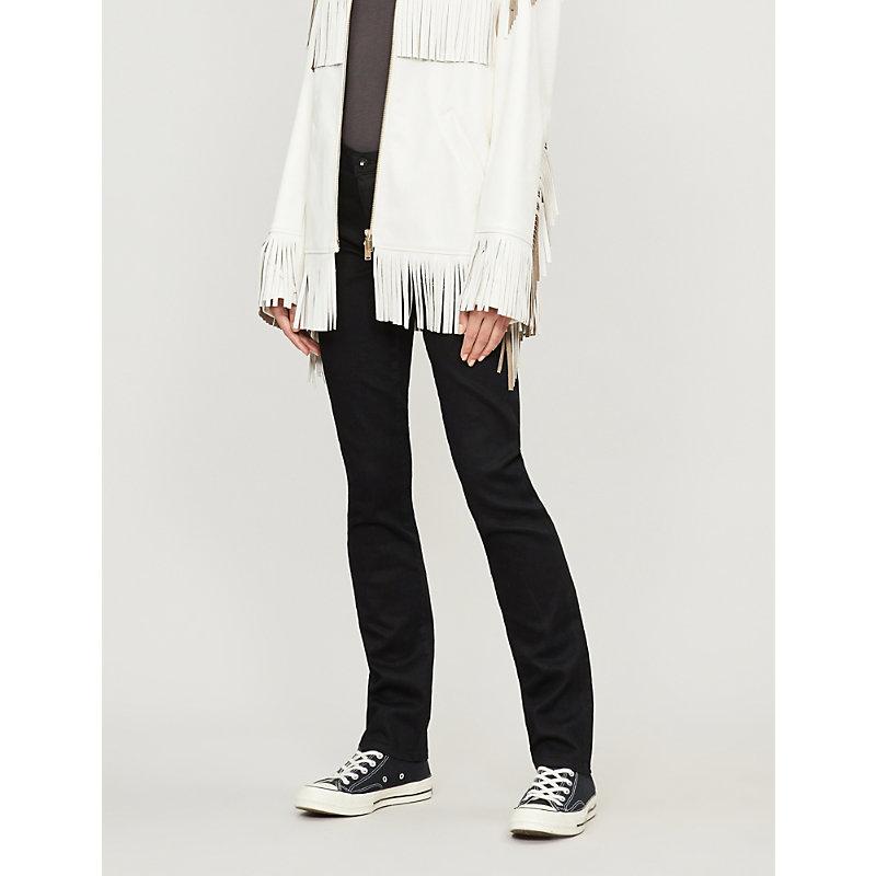 AG JEANS   Ag The Harper Skinny Straight Mid-Rise Jeans, Women'S, Size: 29, Overdye Black   Goxip