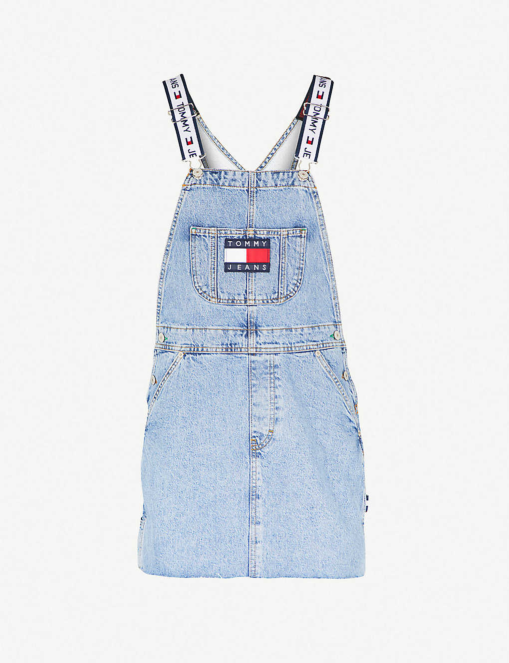 791d5655 TOMMY JEANS - '90s embroidered denim dungaree dress | Selfridges.com