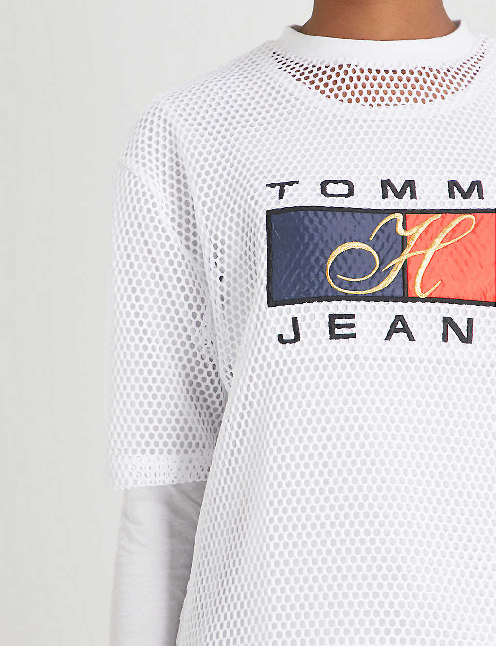 9f6ed770 TOMMY JEANS - 90s mesh T-shirt | Selfridges.com