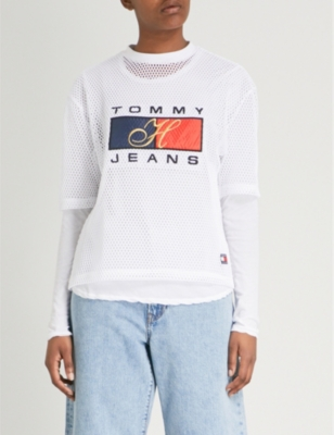 d333aa5e TOMMY JEANS - 90s mesh T-shirt | Selfridges.com