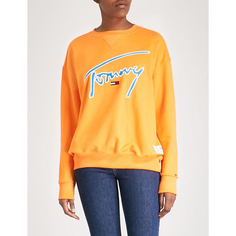 Signature Cotton-Jersey Sweatshirt in Yellow