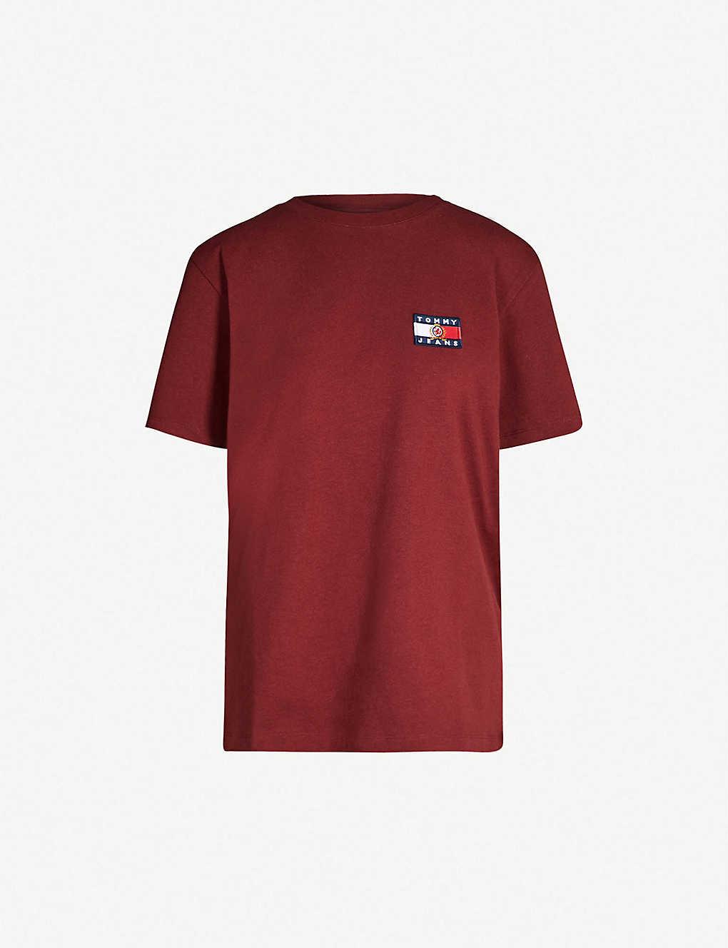 a59e2c24 TOMMY JEANS - Crest flag cotton-jersey T-shirt | Selfridges.comm