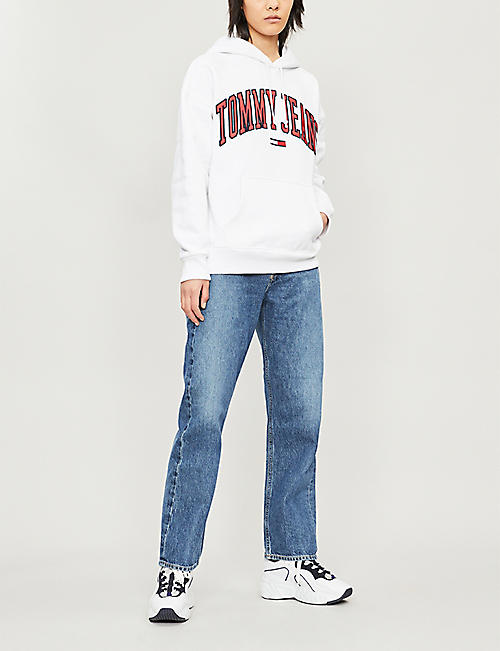 TOMMY JEANS Logo-embroidered cotton hoody