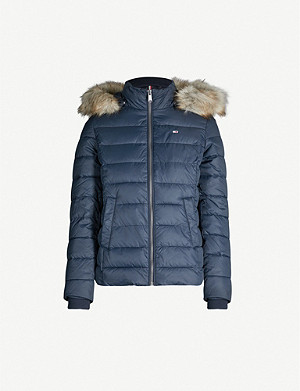 TOMMY JEANS Padded faux fur-hooded puffer jacket