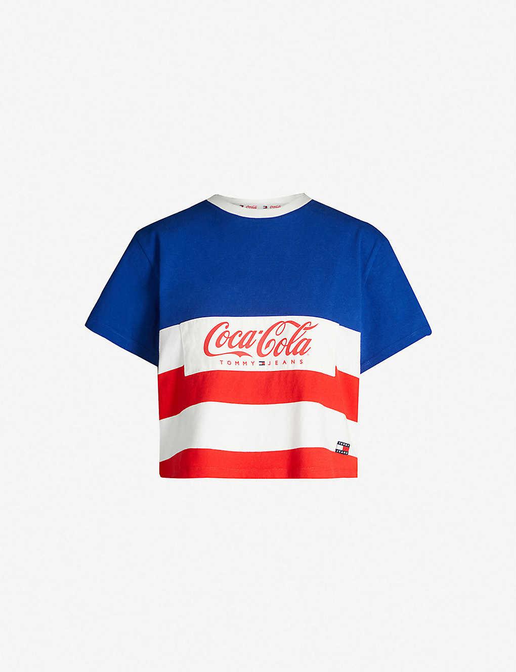 5522d5620 TOMMY JEANS - Tommy x Coca Cola striped cotton T-shirt | Selfridges.com