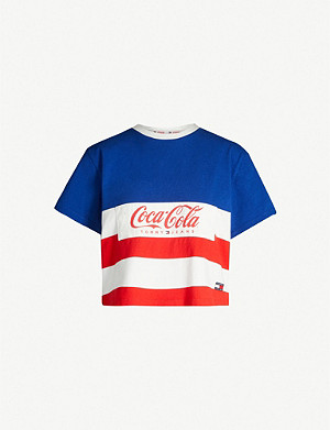 1fac0152 TOMMY JEANS · Tommy x Coca Cola striped cotton T-shirt