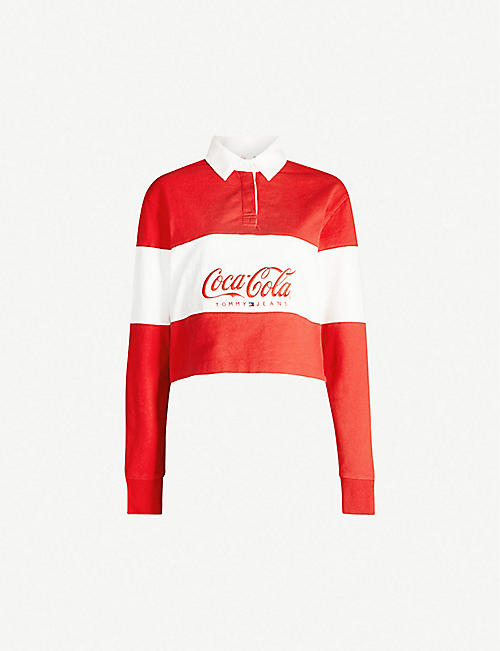 TOMMY JEANS Tommy x Coca Cola cotton rugby top