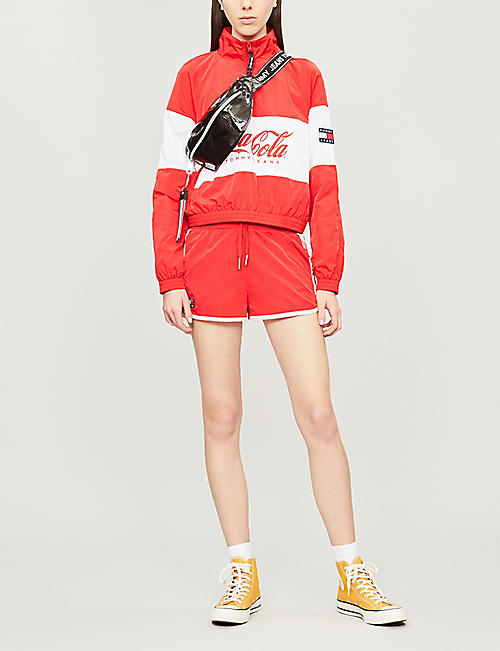 TOMMY JEANS Tommy x Coca Cola high-neck shell jacket